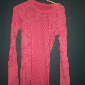 Pink Lululemon Thick Long Sleeve
